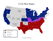 Civil War States