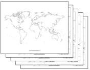 Continents blank map Collection