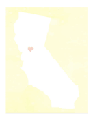 Cute California Map