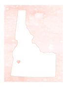 Cute Idaho Map