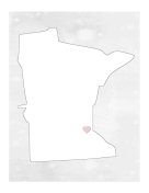 Cute Minnesota Map