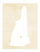 Cute New Hampshire Map