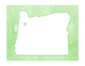 Cute Oregon Map