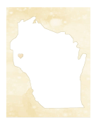 Cute Wisconsin Map
