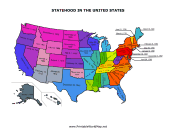 United States Statehood map