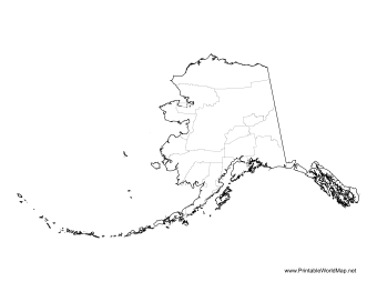 Alaska Boroughs and Census Areas Map