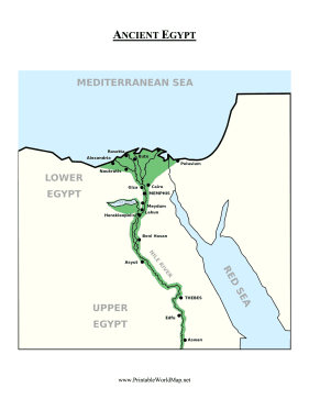 Ancient Egypt Map Color