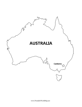 Australia Map With Capital