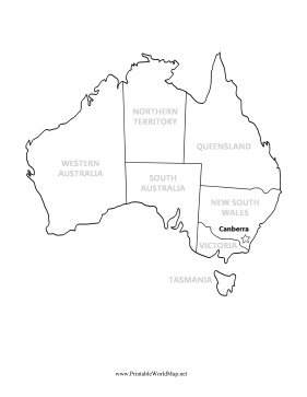 Australia Map With Capital And States