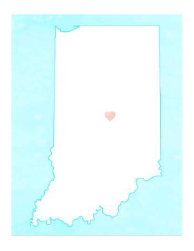 Cute Indiana Map