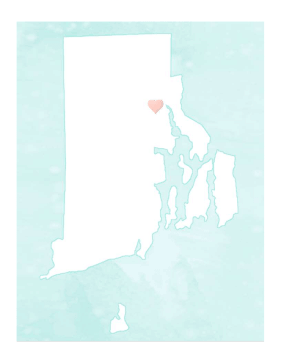 Cute Rhode Island Map