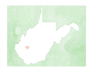 Cute West Virginia Map