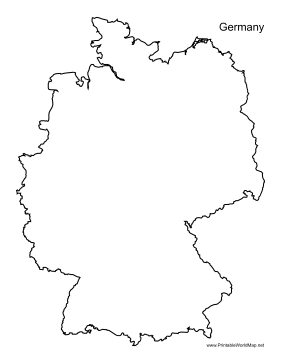 Printable Map Of Germany.Germany