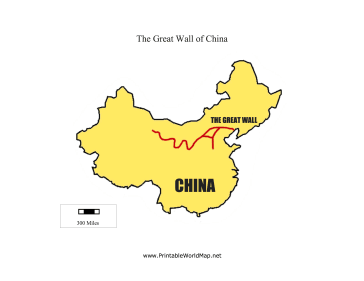 picture relating to Printable China Map identified as Excellent Wall of China map