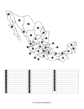Identify Mexican States
