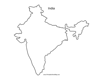 image about Printable Map of India identify India