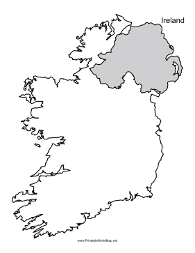 photo regarding Ireland Map Printable identified as Eire