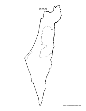 graphic relating to Printable Map of Israel named Israel