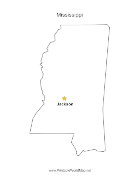 Mississippi Capital Map