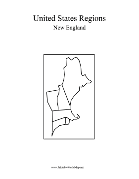 image relating to Printable Map of New England named Fresh England Map