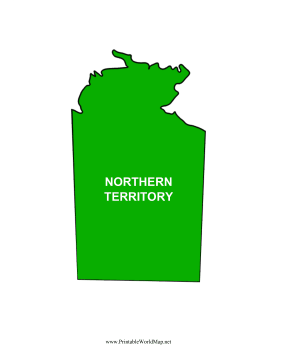 Northern Territory Map Color