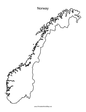 picture about Printable Map of Norway known as Norway