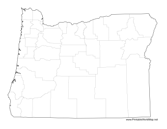 Oregon County Map