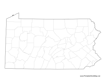 Pennsylvania County Map