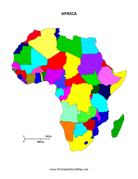 image about Africa Printable Map named Printable Africa map for Youngsters