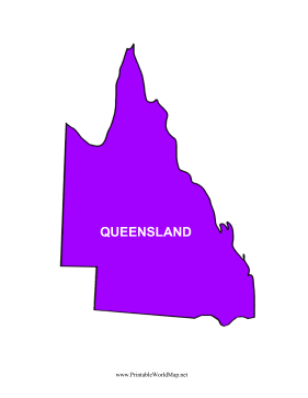 Queensland Map Color