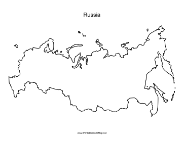 graphic relating to Printable Map of Russia identified as Russia