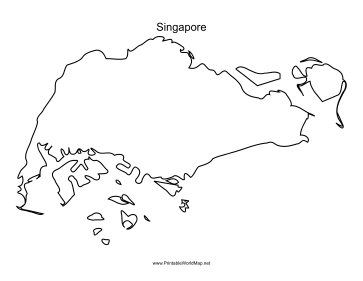 singapore outline map