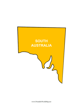 South Australia Map Color