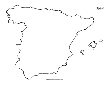 Free Printable Map Of Spain.Spain