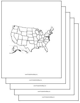 United States blank Map Collection