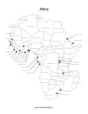 Africa fill-in map