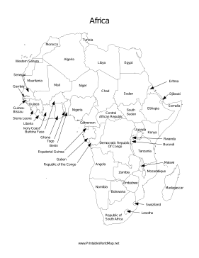 graphic about Printable Africa Map titled Africa map