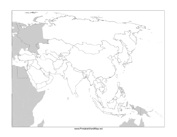 Map Of Asia Outline Printable.Asia Blank Map