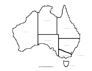 Map Of Australia Pdf.Australia Fill In Map