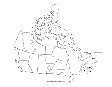 Canada fill-in map