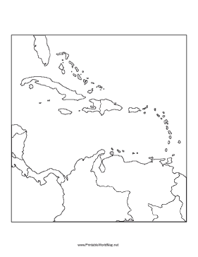 Blank Map - Unlabelled map