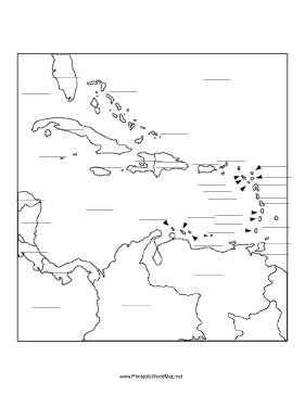 Caribbean fill-in map