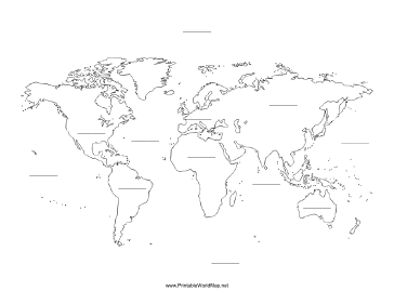 Fill-in World map