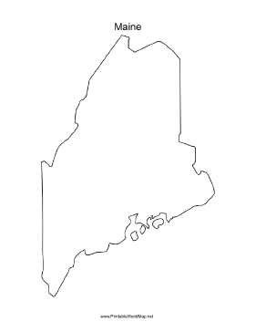 Maine blank map