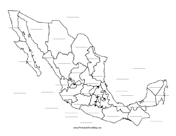 Mexico fill-in map