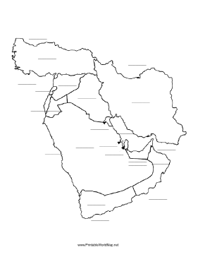 Middle East fill-in map