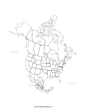 picture about North America Printable Map named North The us fill-in just map