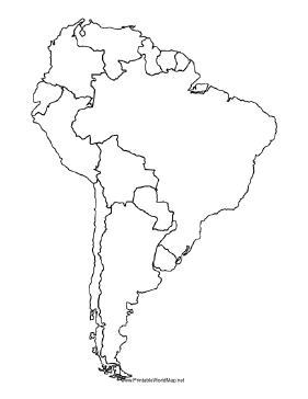 South America Map Outline Asafonggecco - Blank map of the americas printable