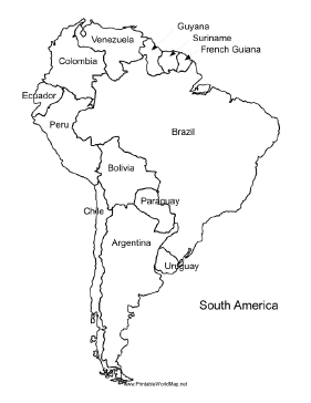 America Map - South america map labeled
