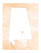Cute Alabama Map